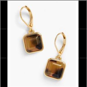 Talbots square drop earring